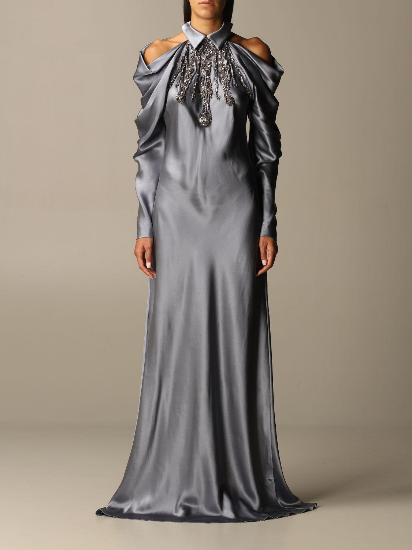 Платье Alberta Ferretti: Платье Женское Alberta Ferretti серый 1