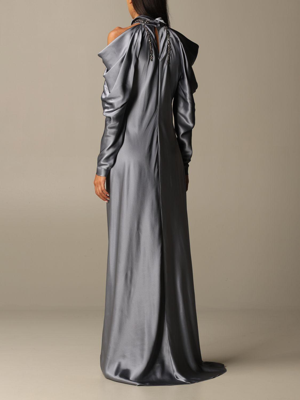 Платье Alberta Ferretti: Платье Женское Alberta Ferretti серый 2