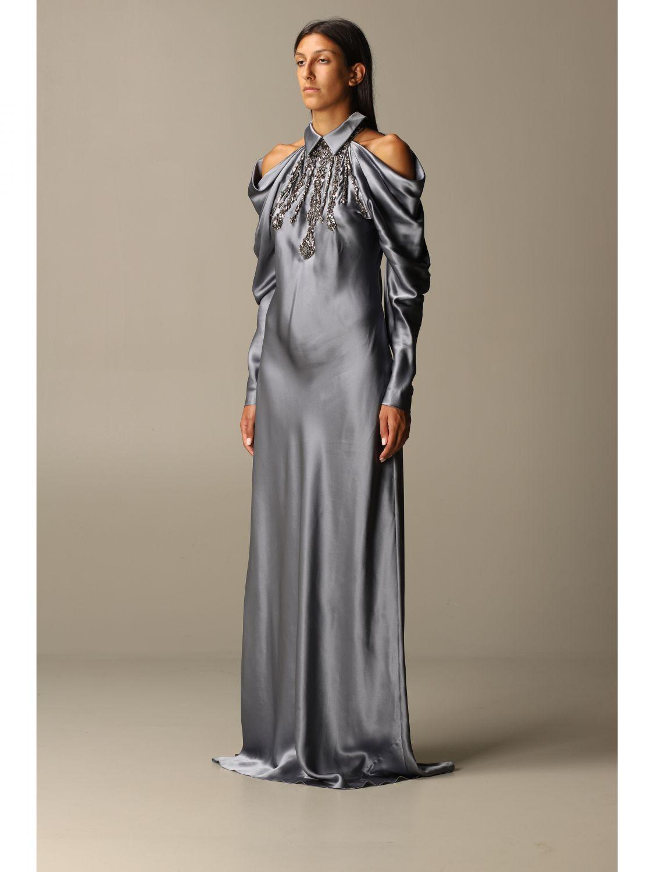 Платье Alberta Ferretti: Платье Женское Alberta Ferretti серый 3