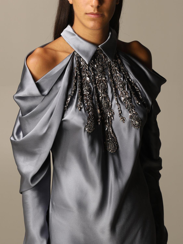Платье Alberta Ferretti: Платье Женское Alberta Ferretti серый 4