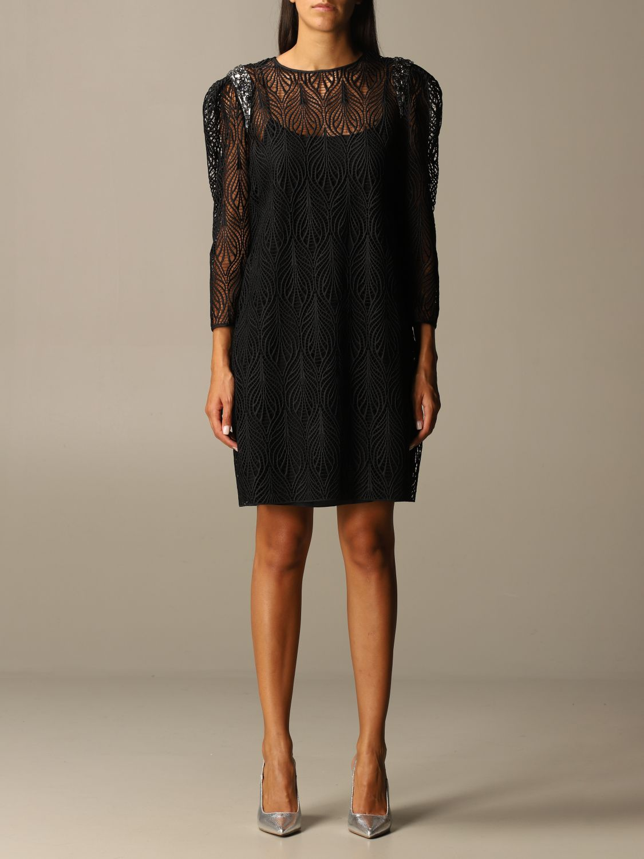 Robes Alberta Ferretti: Robes femme Alberta Ferretti noir 1