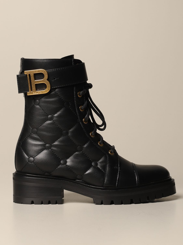 Flat ankle boots Balmain: Flat ankle boots women Balmain black 1