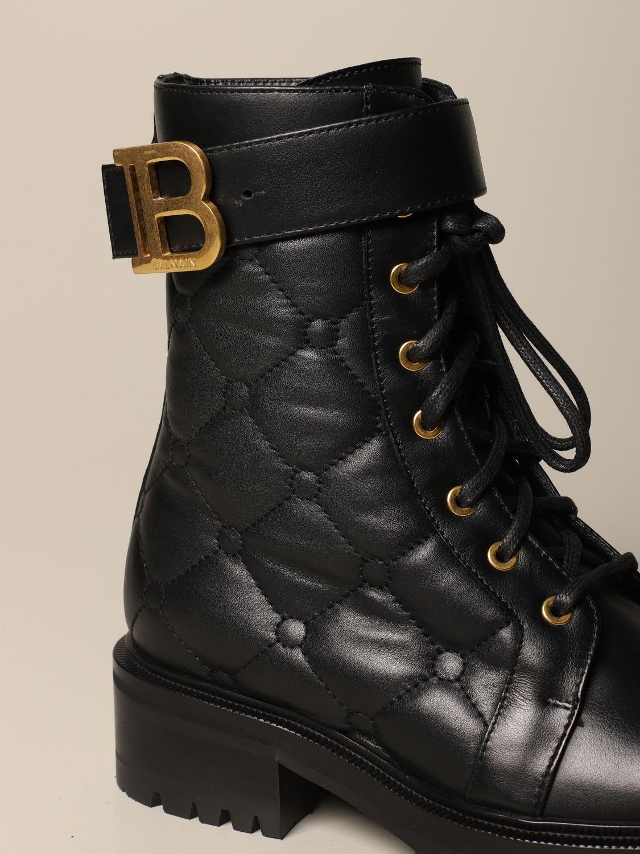 Flat ankle boots Balmain: Flat ankle boots women Balmain black 4