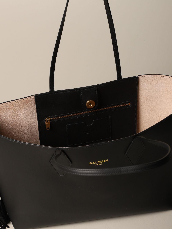 Shoulder bag Balmain: Shoulder bag women Balmain black 5