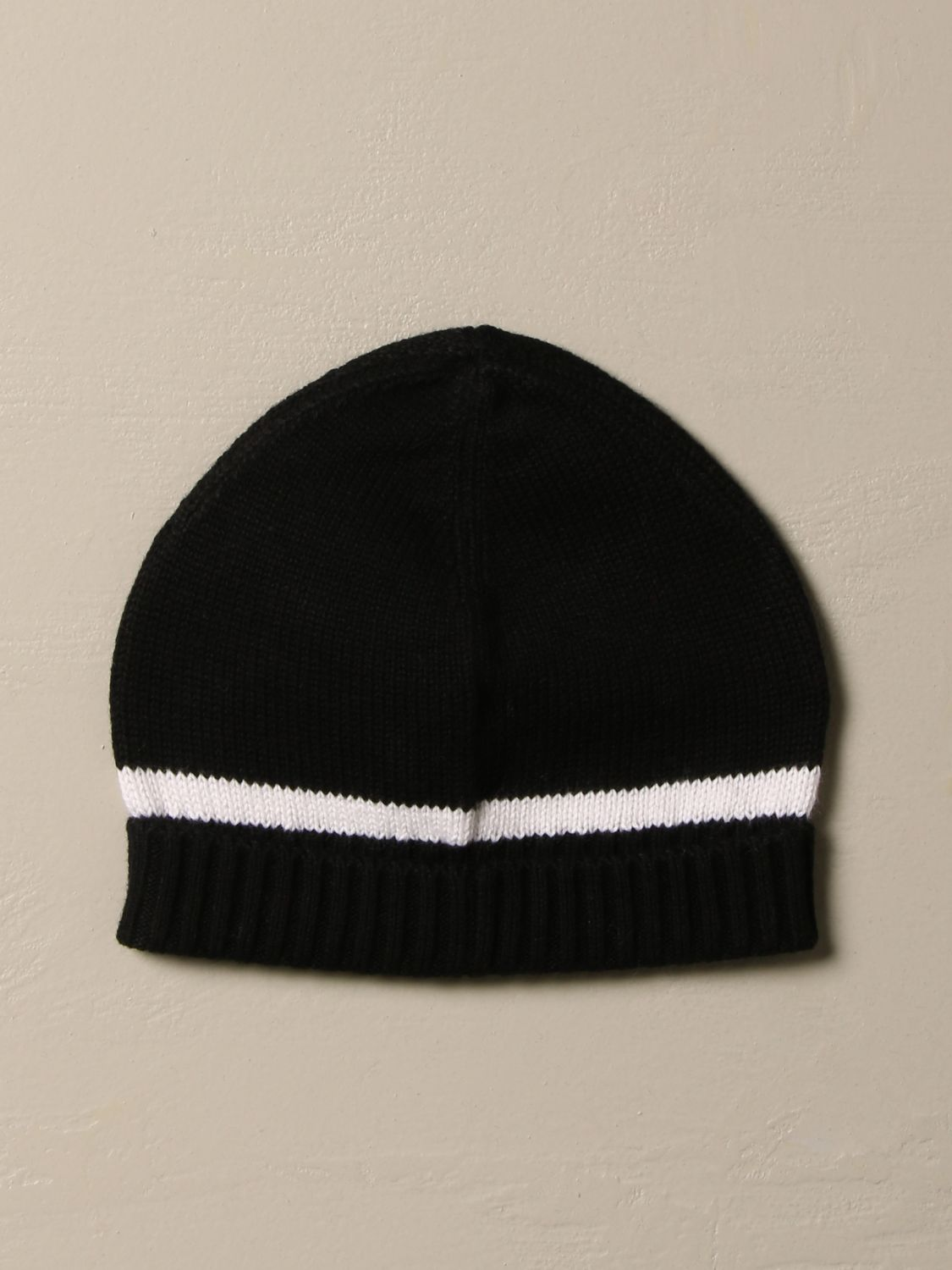 Hat Givenchy: Givenchy hat in cotton and cashmere with logo black 2