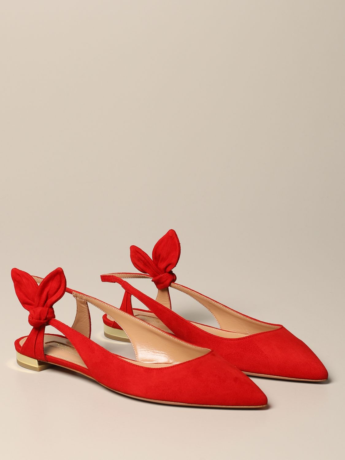 Ballet pumps Aquazzura: Ballet pumps women Aquazzura red 2