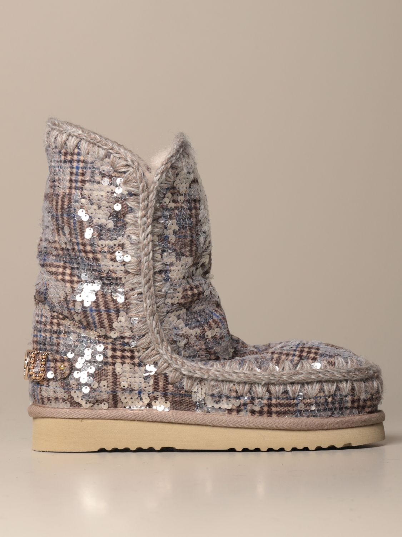 靴子 Mou: 运动鞋 女士 Mou 银色 1