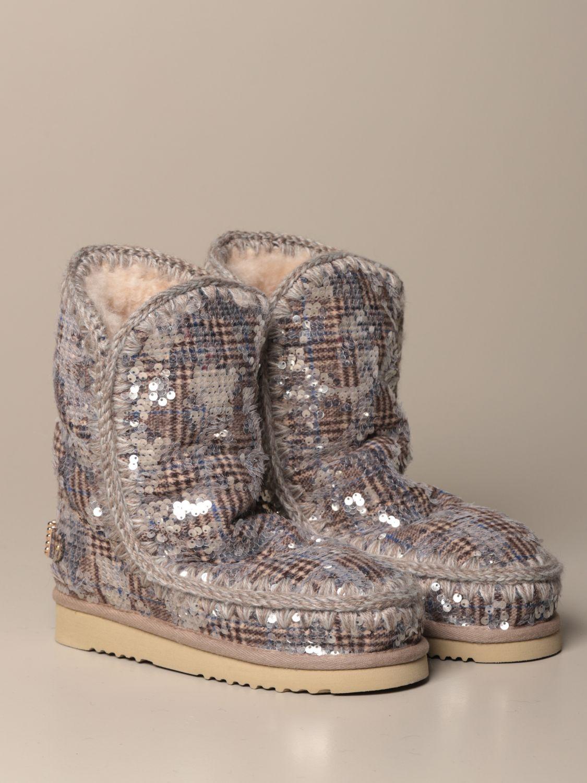 靴子 Mou: 运动鞋 女士 Mou 银色 2
