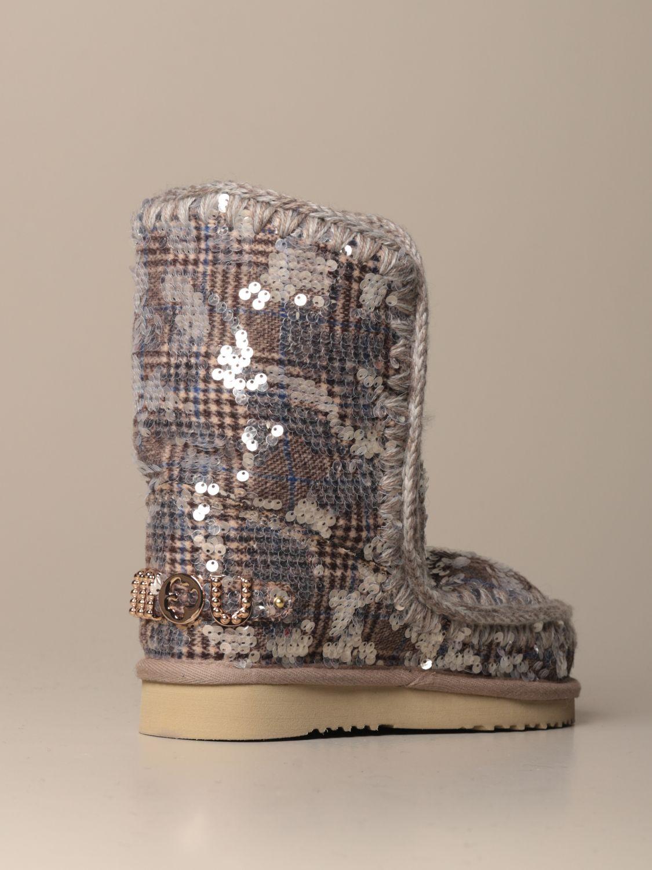 靴子 Mou: 运动鞋 女士 Mou 银色 3
