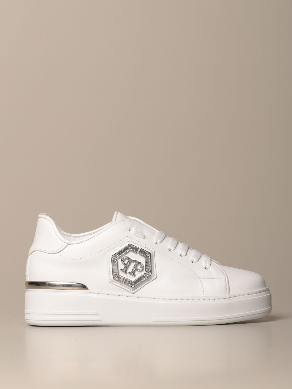 Philipp Plein leather sneakers with