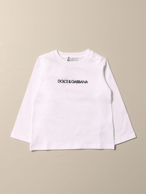T-shirt Dolce & Gabbana: T-shirt Dolce & Gabbana con logo bianco 1