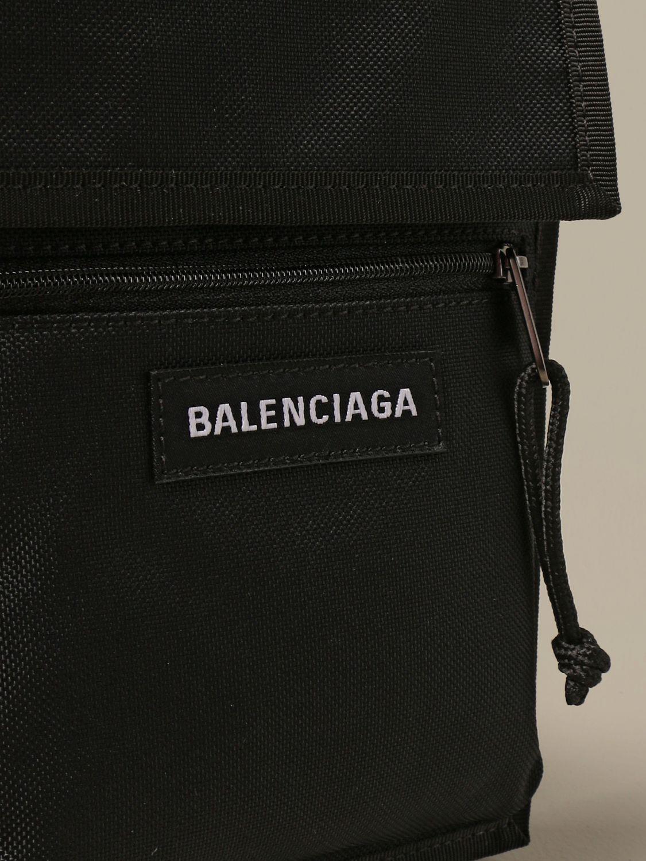 Briefcase Balenciaga: Balenciaga nylon document holder with logo black 4
