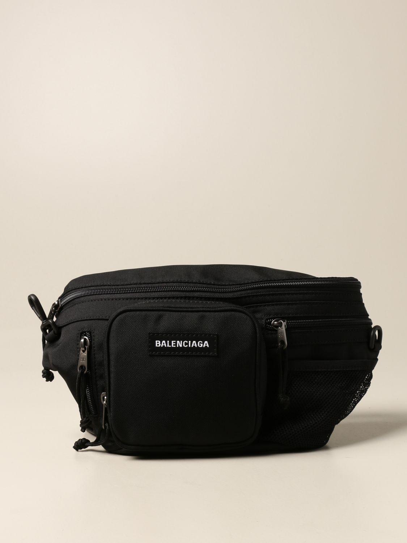 Belt bag Balenciaga: Balenciaga nylon belt bag with logo black 1