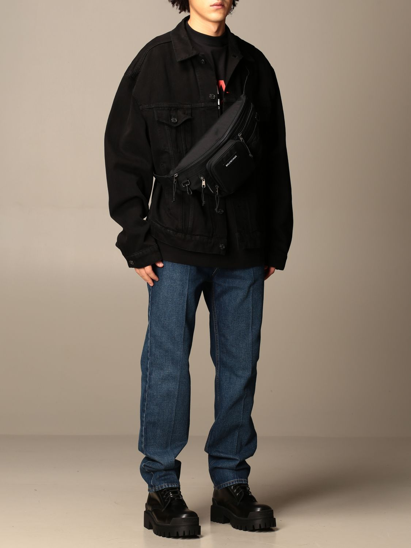 Belt bag Balenciaga: Balenciaga nylon belt bag with logo black 2