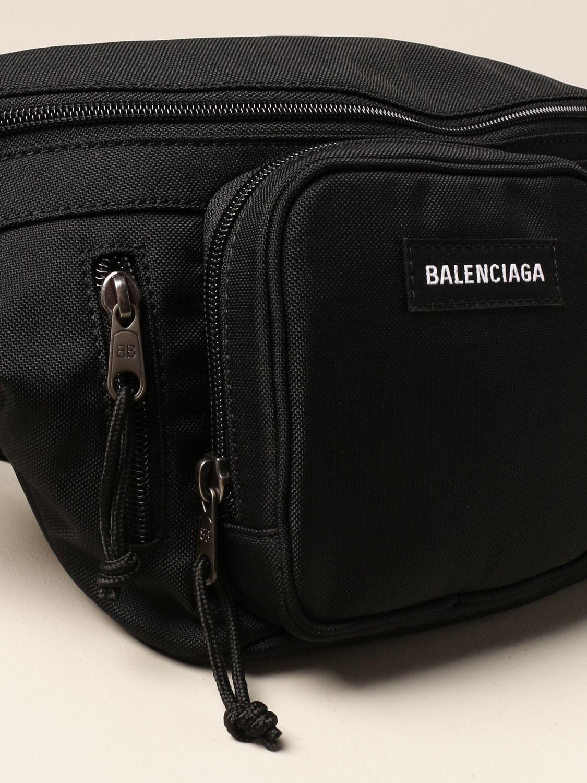 Belt bag Balenciaga: Balenciaga nylon belt bag with logo black 4