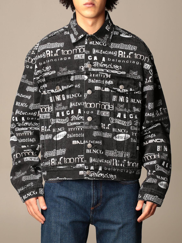 Куртка Balenciaga: Куртка Мужское Balenciaga черный 1