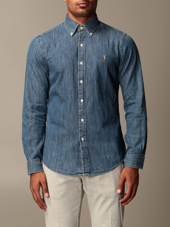 Shirt Polo Ralph Lauren: Shirt men Polo Ralph Lauren denim 1
