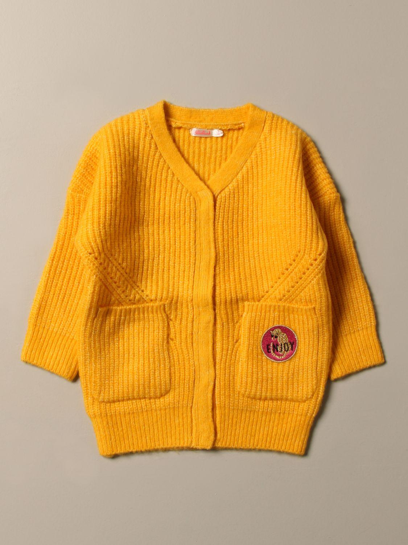 Maglia Billieblush: Cardigan Billieblush con patch logo giallo 1