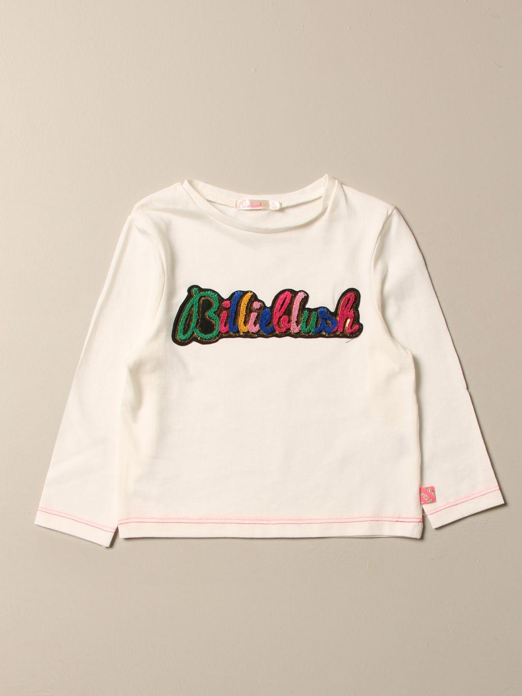 T-shirt Billieblush: T-shirt Billieblush con logo multicolor bianco 1