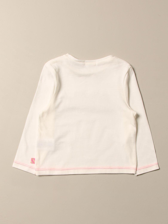 T-shirt Billieblush: T-shirt Billieblush con logo multicolor bianco 2
