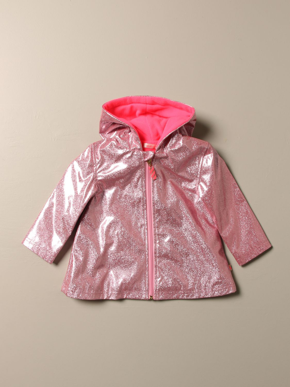 Blazer Billieblush: Giacca a vento Billieblush in tessuto glitter con logo rosa 1