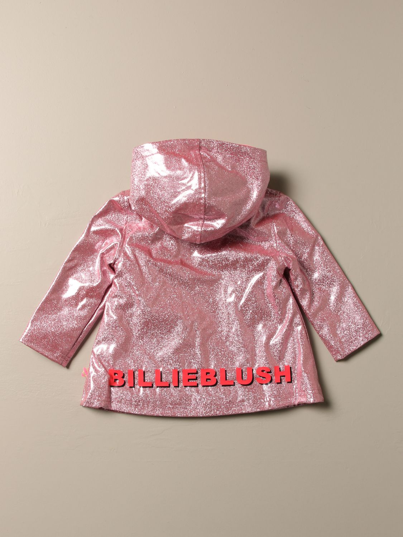 Blazer Billieblush: Giacca a vento Billieblush in tessuto glitter con logo rosa 2