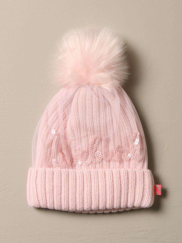 Cappello bimba Billieblush: Cappello a berretto Billieblush in tessuto e tulle rosa 1