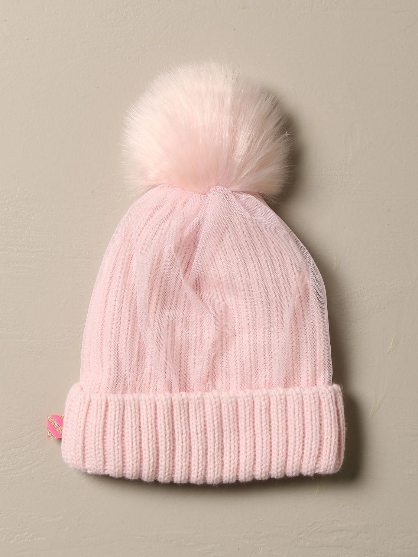 Cappello bimba Billieblush: Cappello a berretto Billieblush in tessuto e tulle rosa 2