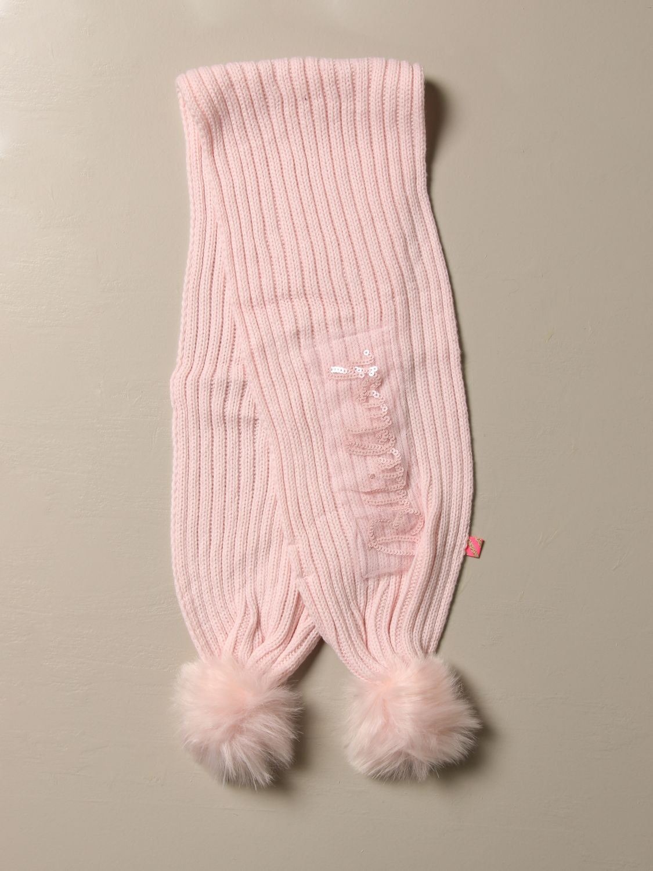 Scarf Billieblush: Billieblush scarf with maxi pompom pink 1