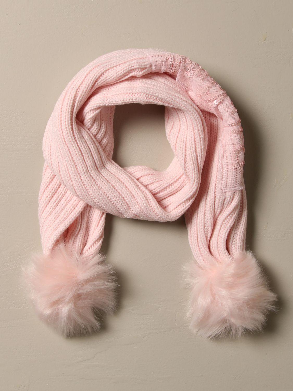 Scarf Billieblush: Billieblush scarf with maxi pompom pink 2