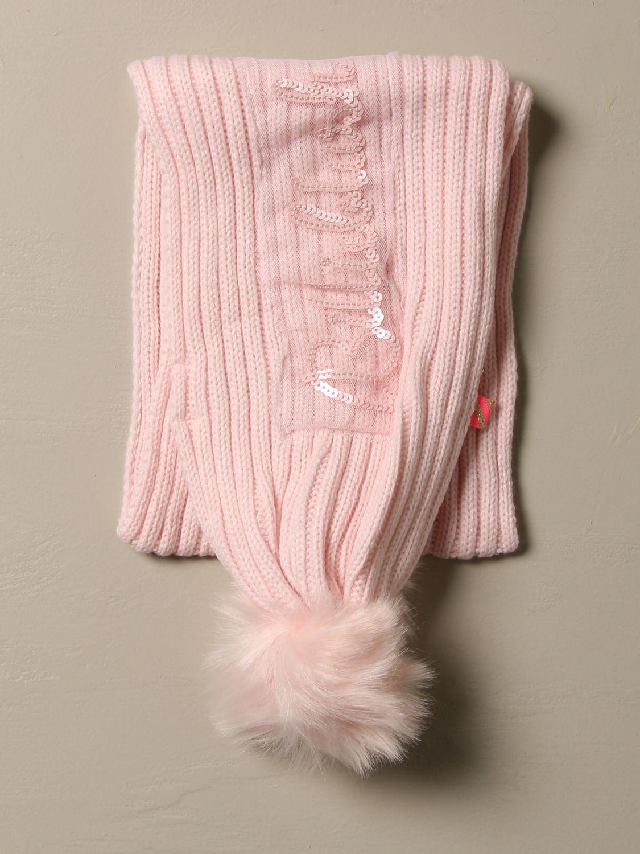 Scarf Billieblush: Billieblush scarf with maxi pompom pink 3