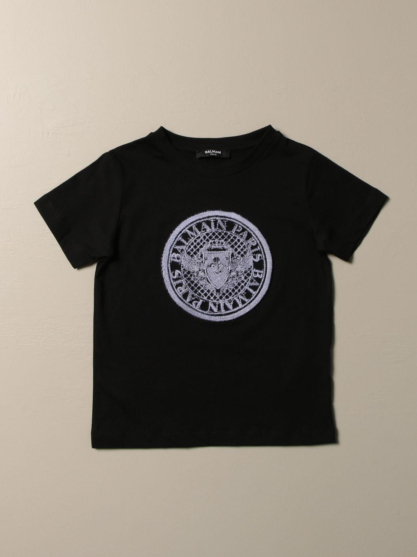 T恤 Balmain: T恤 儿童 Balmain 黑色 1