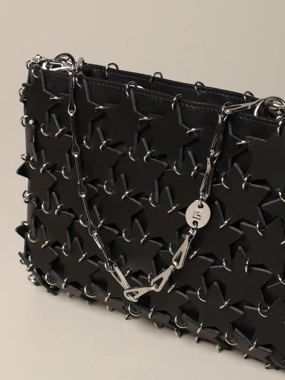 Сумка через плечо Paco Rabanne: Наплечная сумка Женское Paco Rabanne черный 4