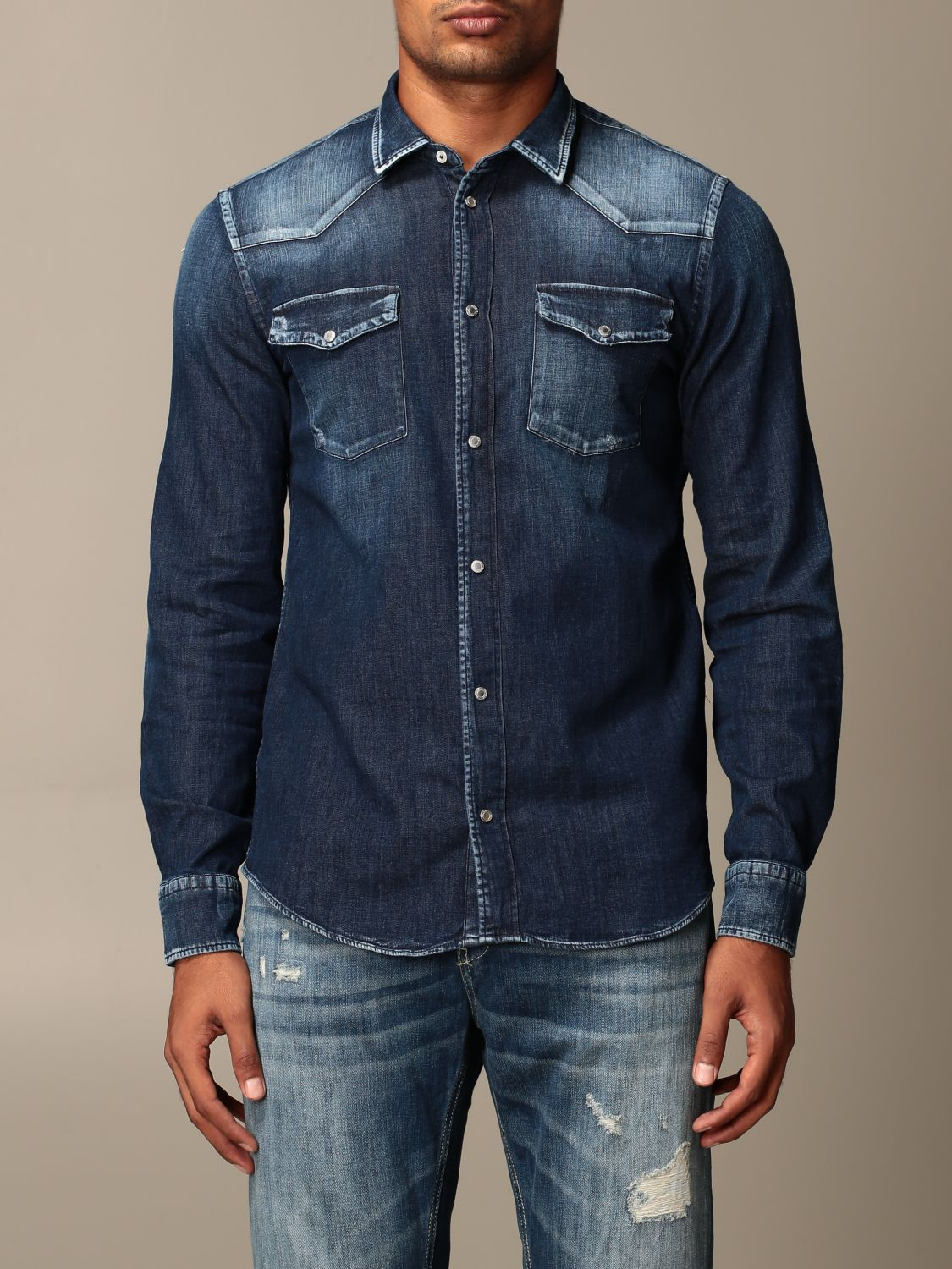 Shirt Dondup: Dondup denim shirt in used denim blue 1
