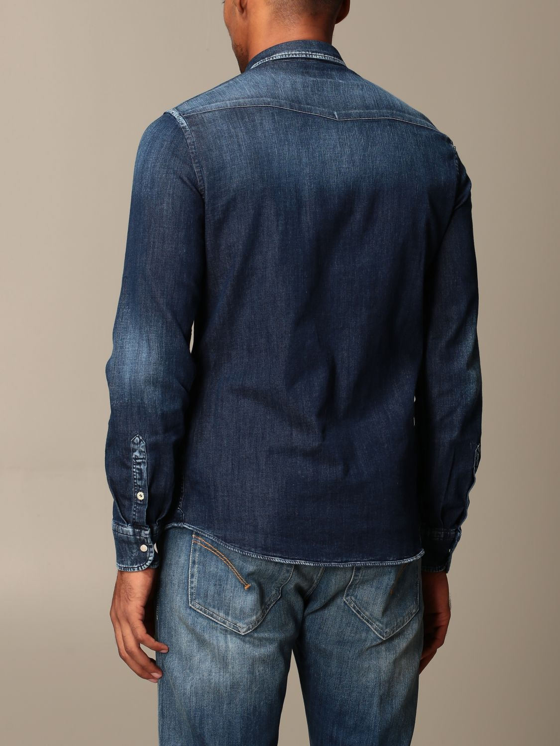 Shirt Dondup: Dondup denim shirt in used denim blue 3