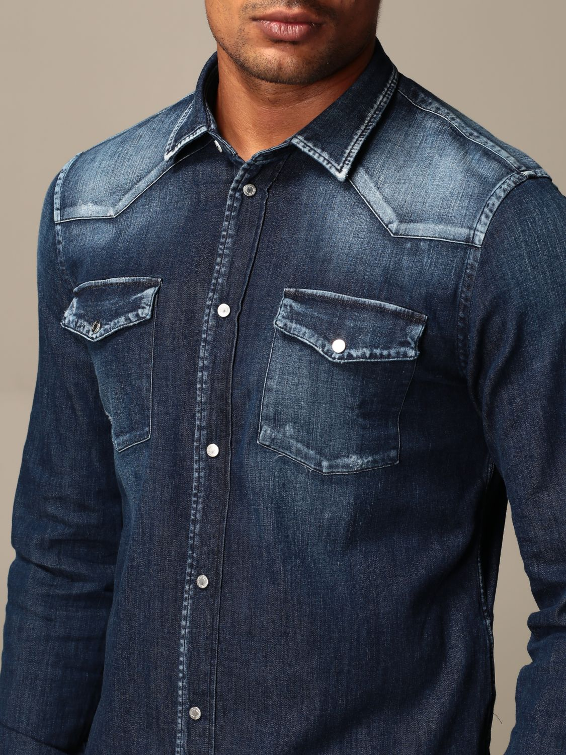 Shirt Dondup: Dondup denim shirt in used denim blue 4
