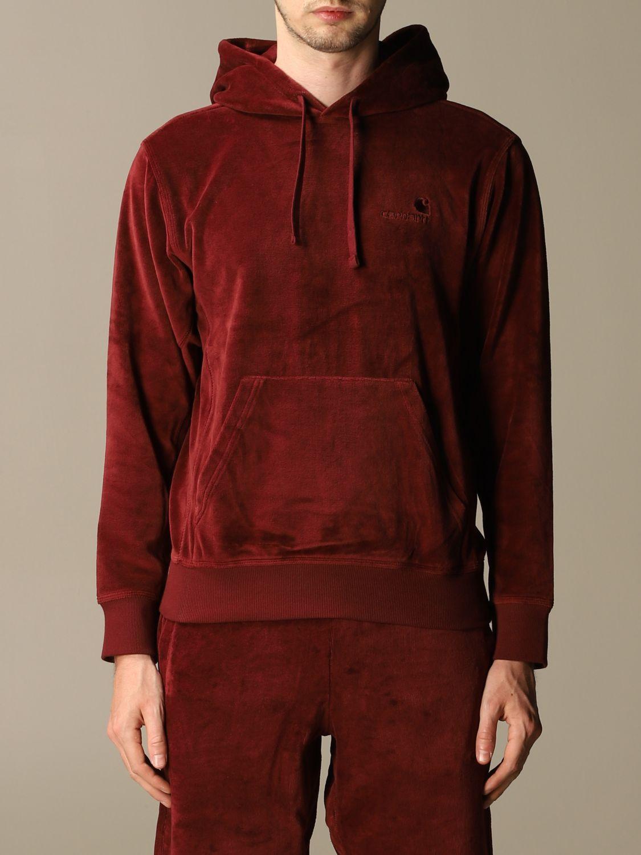 Sweatshirt Carhartt: Sweatshirt damen Carhartt burgunderrot 1
