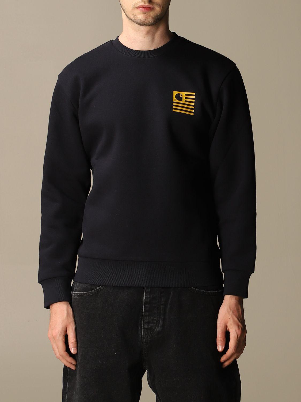 Sweatshirt Carhartt: Sweatshirt women Carhartt navy 1