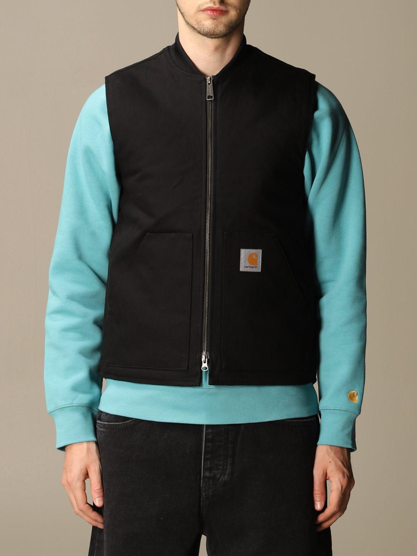 Sweater Carhartt: Carhartt slim waistcoat with zip and logo black 1