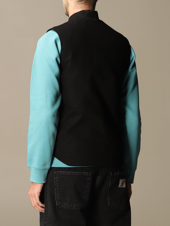 Sweater Carhartt: Carhartt slim waistcoat with zip and logo black 2