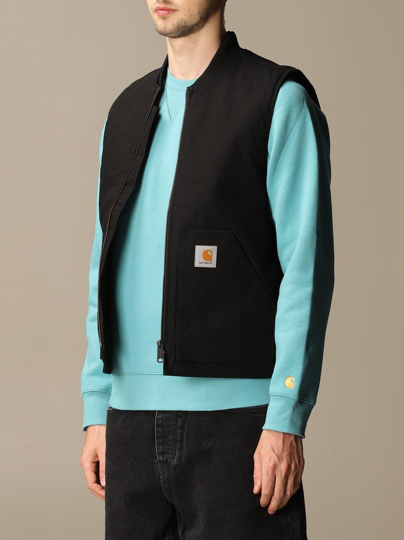 Sweater Carhartt: Carhartt slim waistcoat with zip and logo black 3