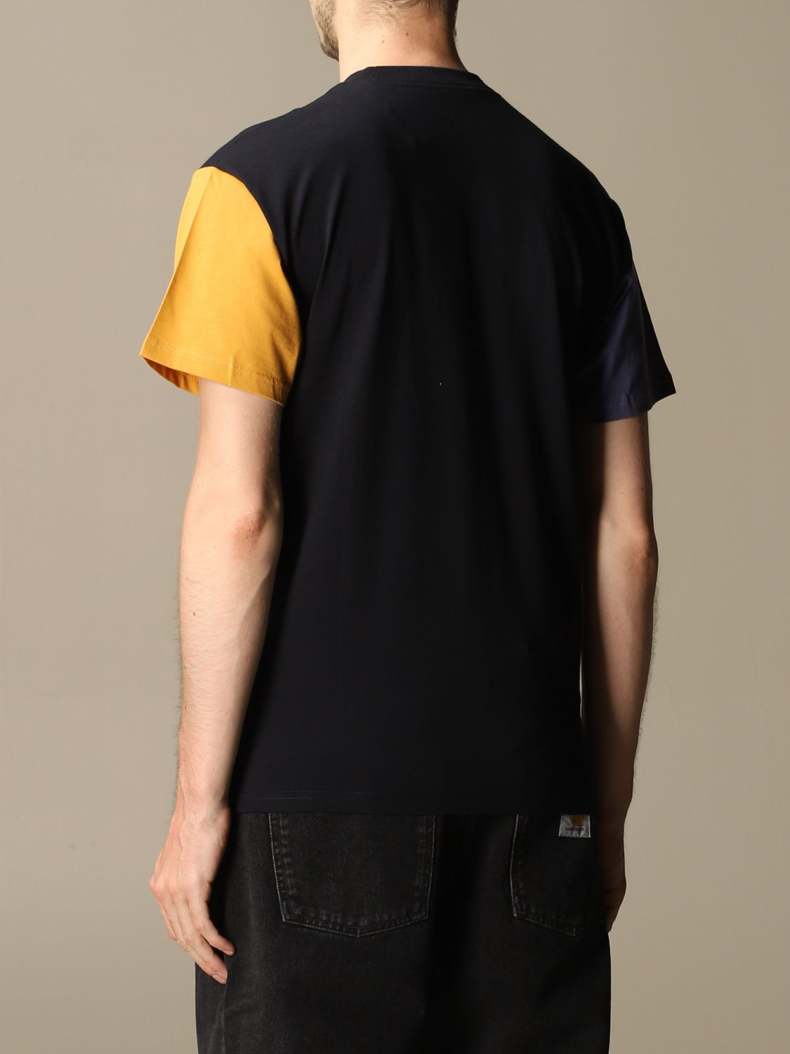 T-shirt Carhartt: Carhartt cotton T-shirt with two-tone sleeves navy 2