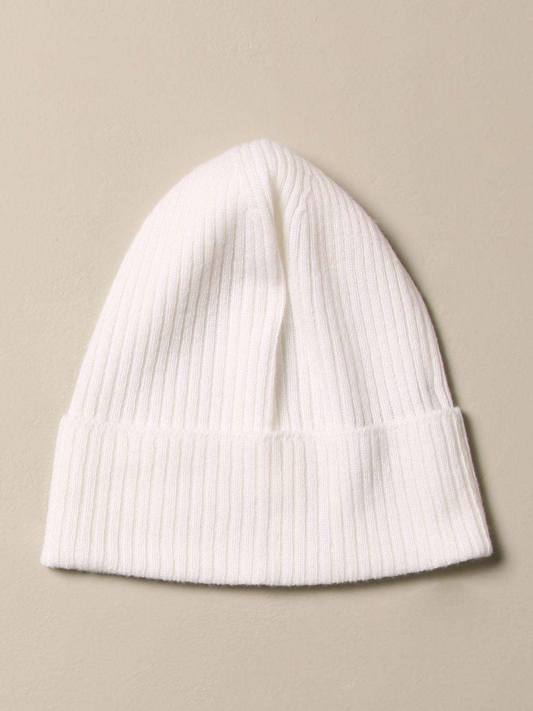 Cappello bambino Balmain: Cappello a berretto Balmain in cashmere con logo avorio 2