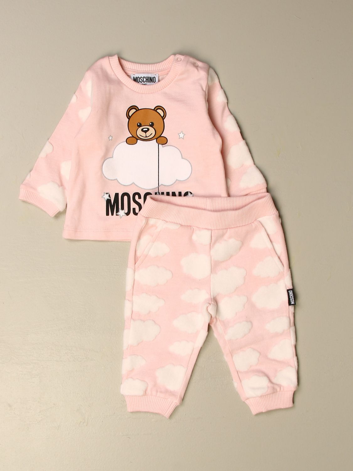 Clothing set Moschino Baby: Sweater + trousers set Moschino Baby pink 1