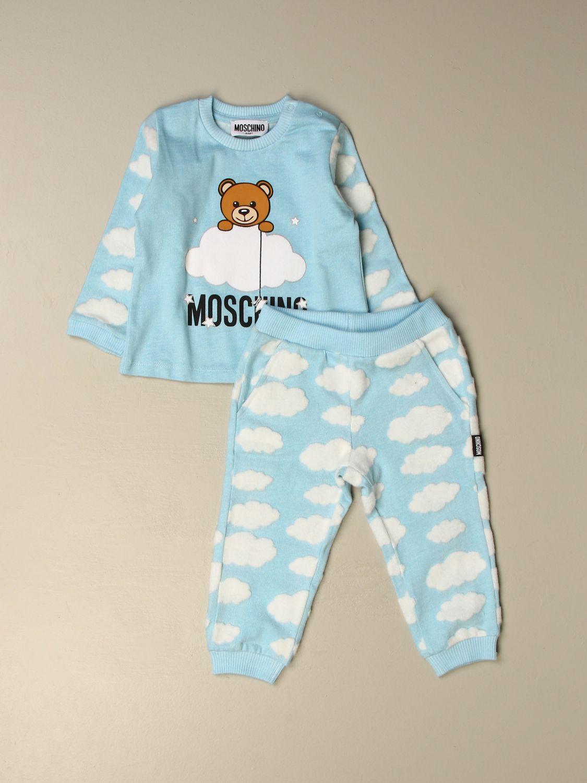 套装 Moschino Baby: Moschino Baby 上衣+裤子套装 天蓝色 1