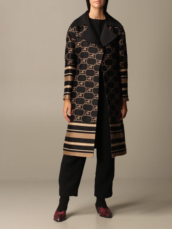 Coat Alberta Ferretti: Cloak women Alberta Ferretti black 2