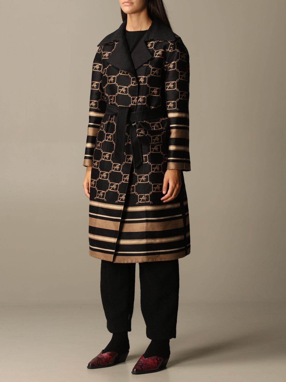 Coat Alberta Ferretti: Cloak women Alberta Ferretti black 4