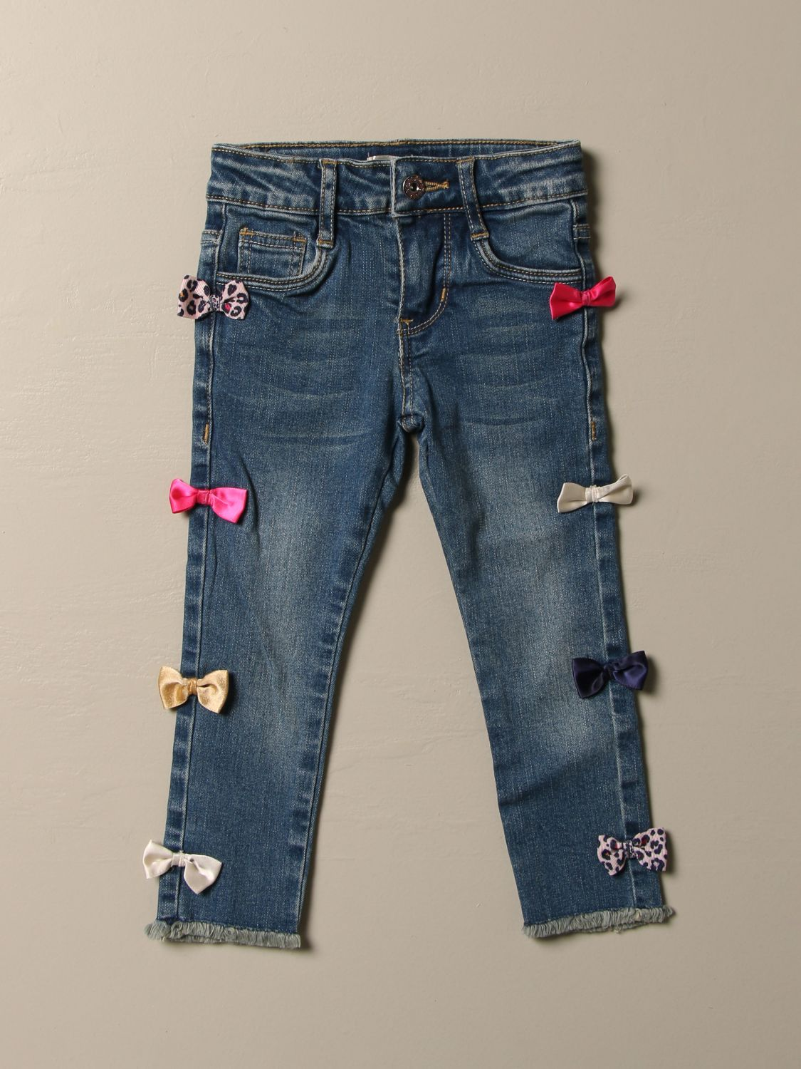 Pantalone Billieblush: Jeans Billieblush in denim con fiocchi multicolor denim 1