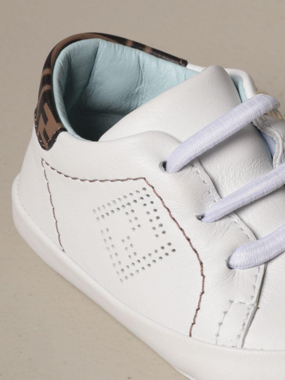 鞋履 Fendi: 鞋履 儿童 Fendi 白色 4