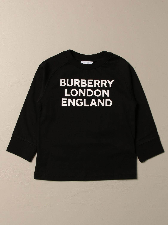 T-shirt Burberry: T-shirt Burberry in cotone con logo nero 1